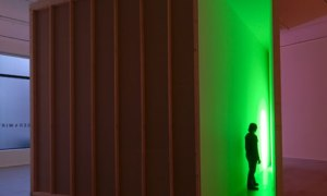 Hauser and Wirth: Bruce Nauman's green parallelogram room